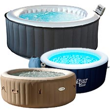 jacuzzi exterior hinchable